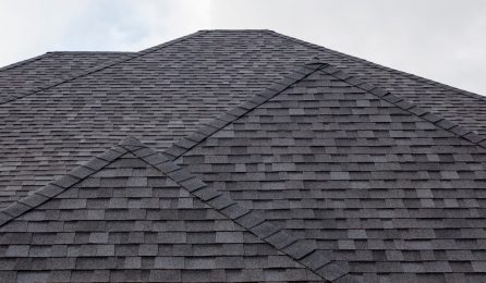 A,Black,Roof,Of,A,House.
